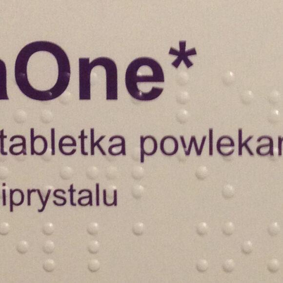 Ulotka leku antykoncepcji awaryjnej ellaOne